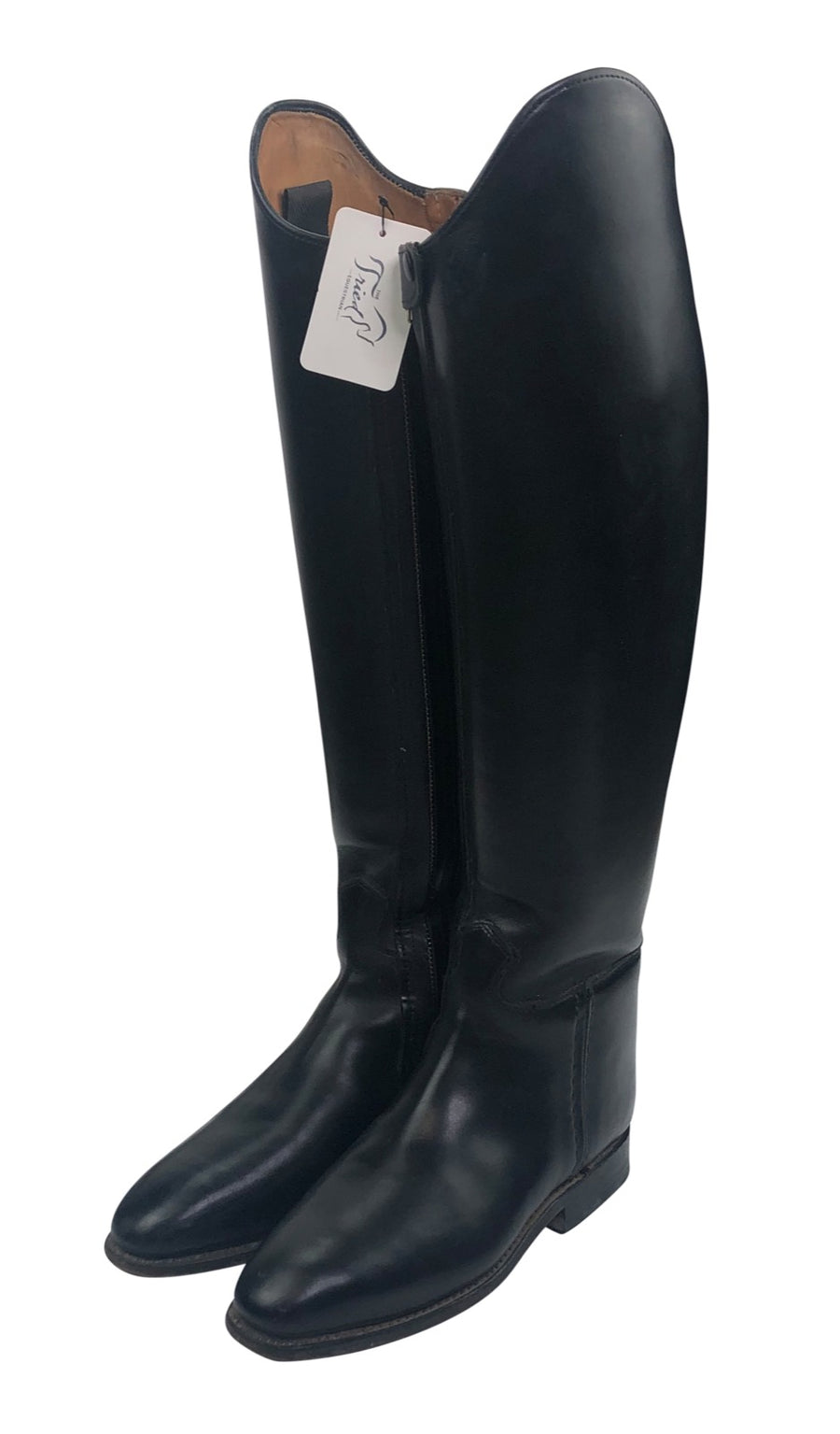front view of Konigs Dressage Boot in Black