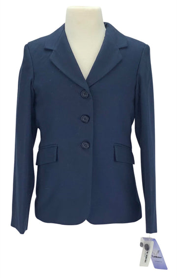 front view of TuffRider Childs Starter Show Coat in Navy