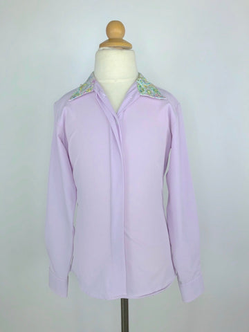 RJ Classics Prestige Collection Show Shirt in Lavender/Paisley -  Front View
