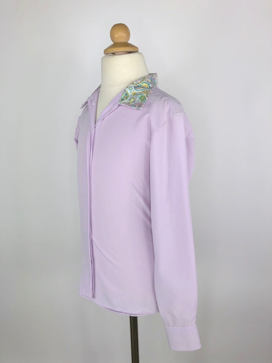 RJ Classics Prestige Collection Show Shirt in Lavender/Paisley - Left Side View