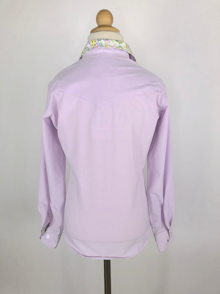 RJ Classics Prestige Collection Show Shirt in Lavender/Paisley - Children's 10 | M