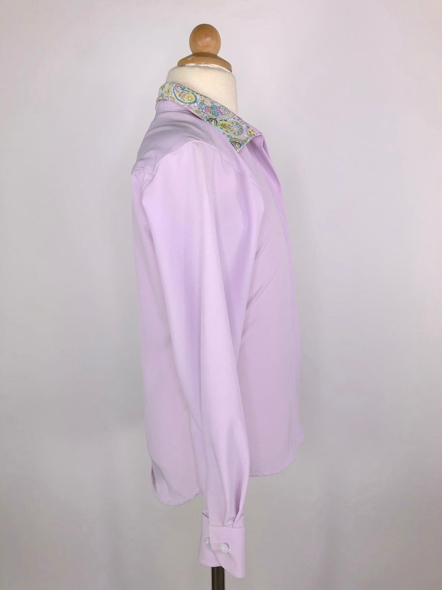 RJ Classics Prestige Collection Show Shirt in Lavender/Paisley -  Right Side View