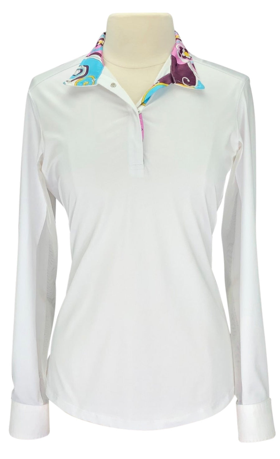Tailored Sportsman Ice Fil Show Shirt in White and Flower Power