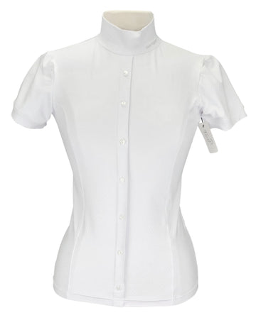 front view of Sarm Hippique Elisa Show Shirt in White