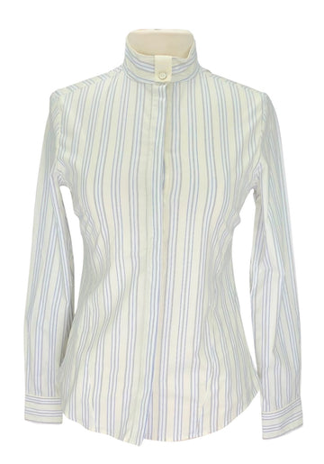 Callidae Butter Yellow Stripe Show Shirt - Women's L