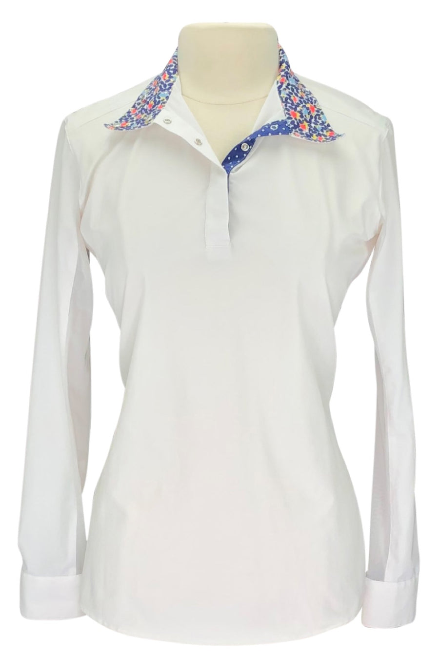 RJ Classics Classic Cool Prestige Show Shirt  in White and Blue Pattern