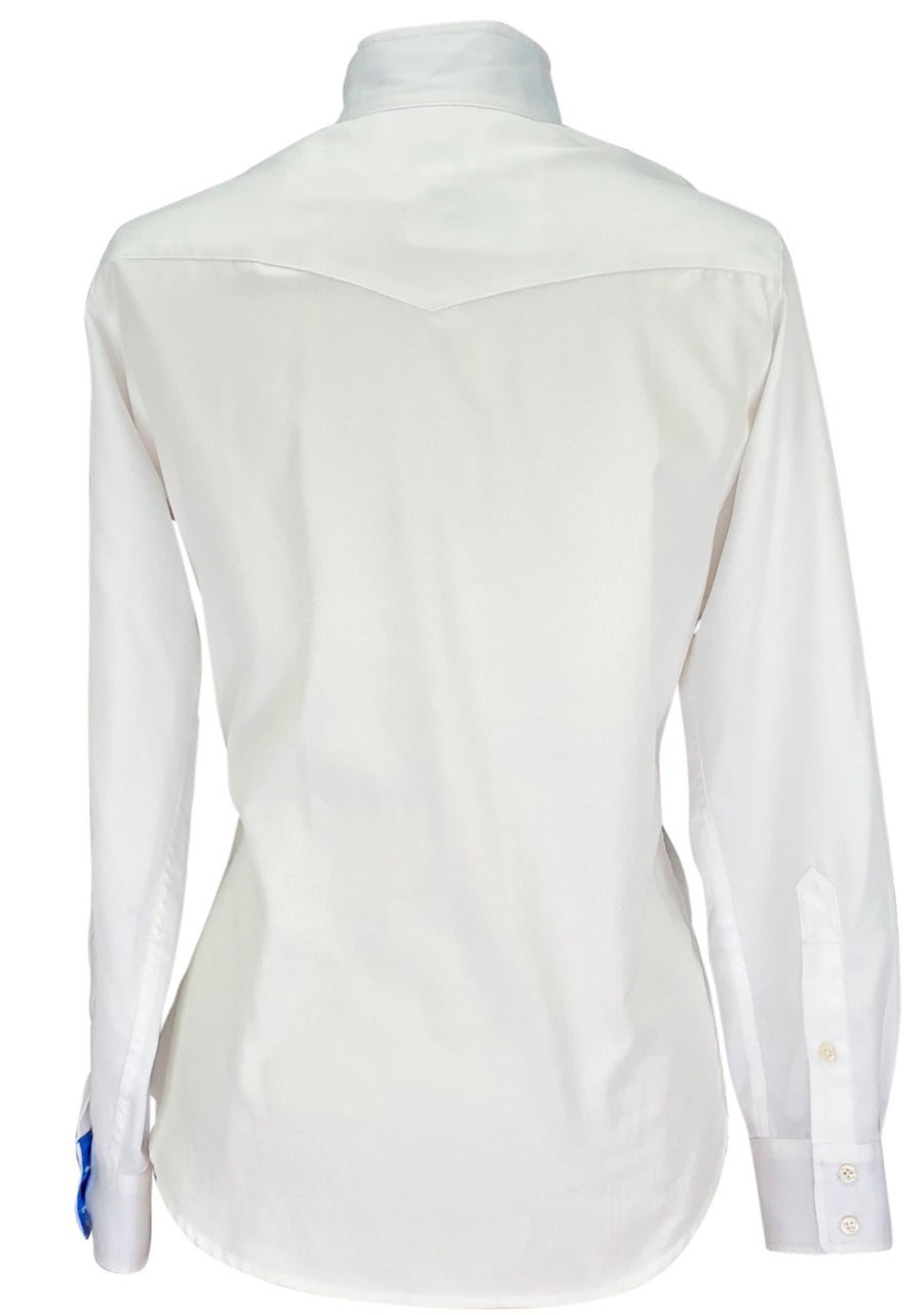 back view of The Tailored Sportsman Bakersfield Show Shirt in White