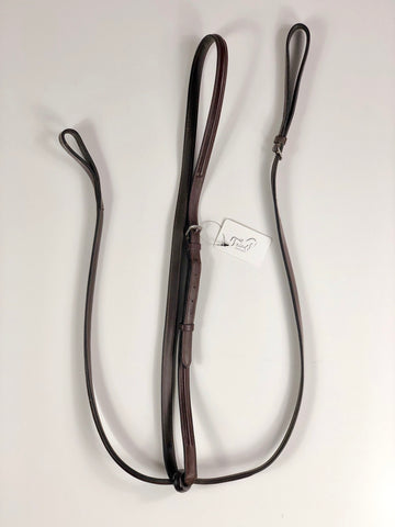 Black Oak Fancy Stitch Standing Martingale in Australian Nut - Extra Full.