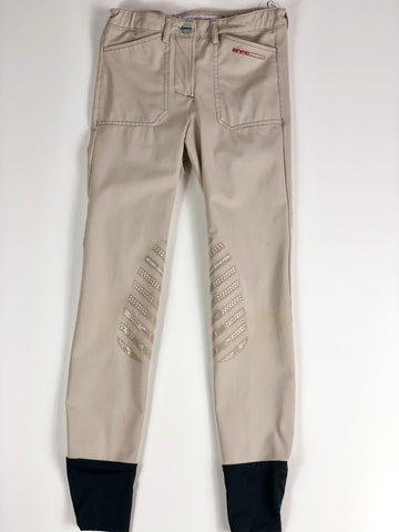 Animo Pony Division Breeches in Tan- Front View