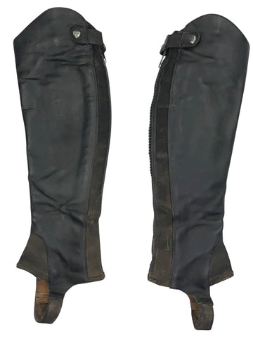 front view of Ariat Close Contour Half Chap in Black