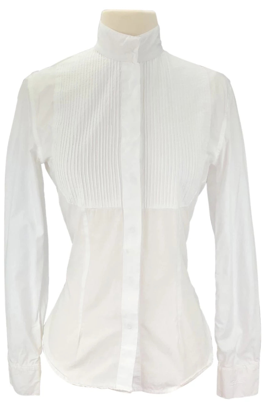 front view of Alessandro Albanese Deauville Show Shirt in White