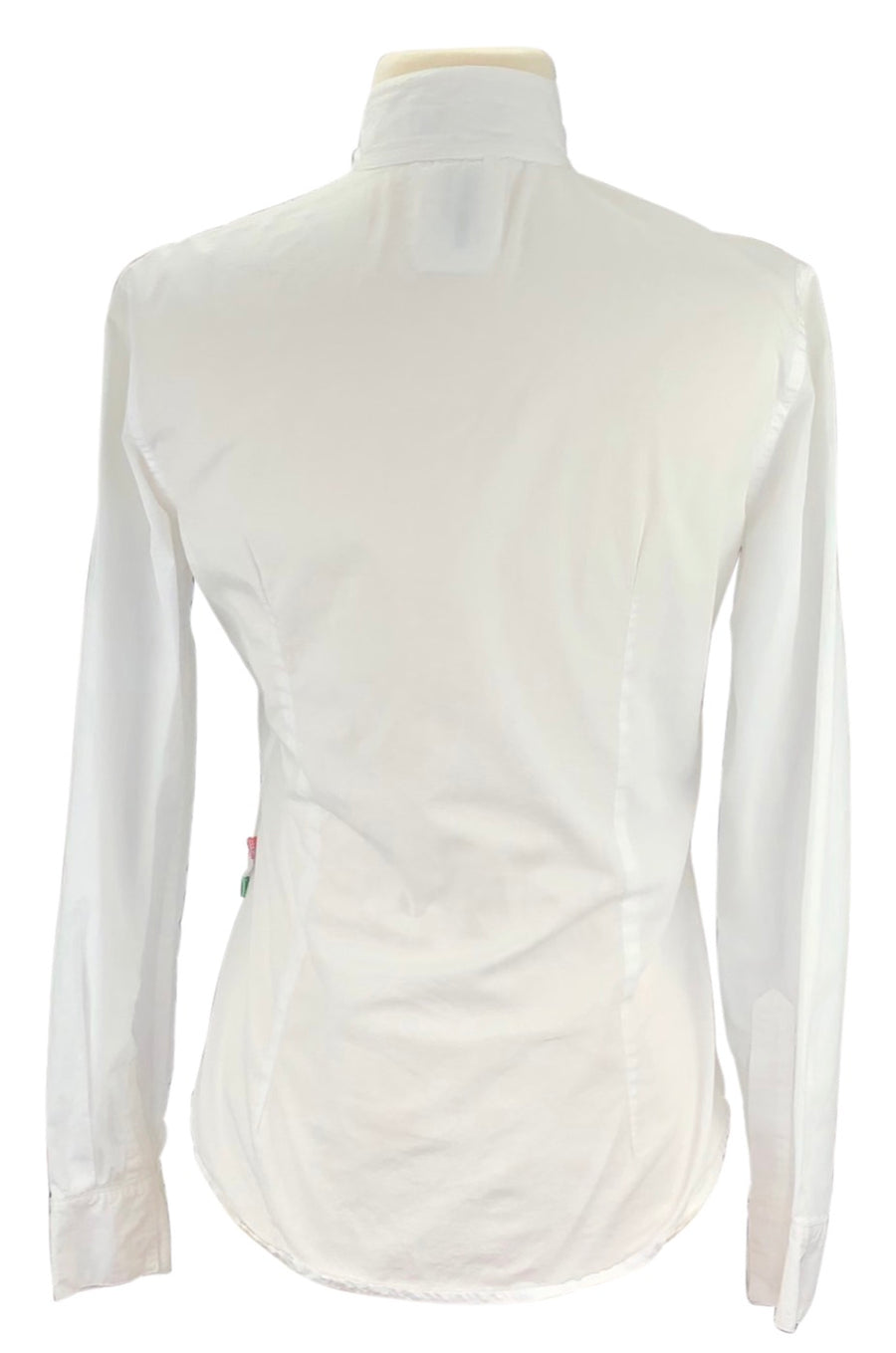 back view of Alessandro Albanese Deauville Show Shirt in White