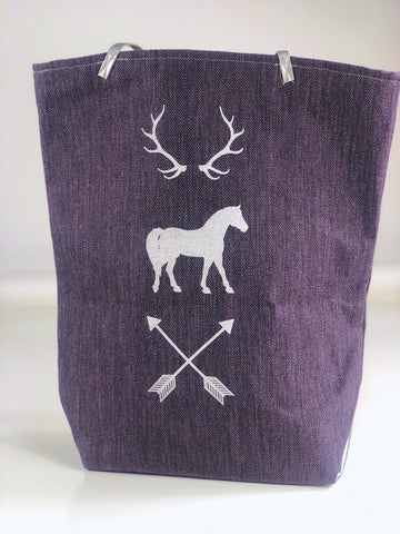 Spiced Equestrian Wildlands Tote in Purple - One Size
