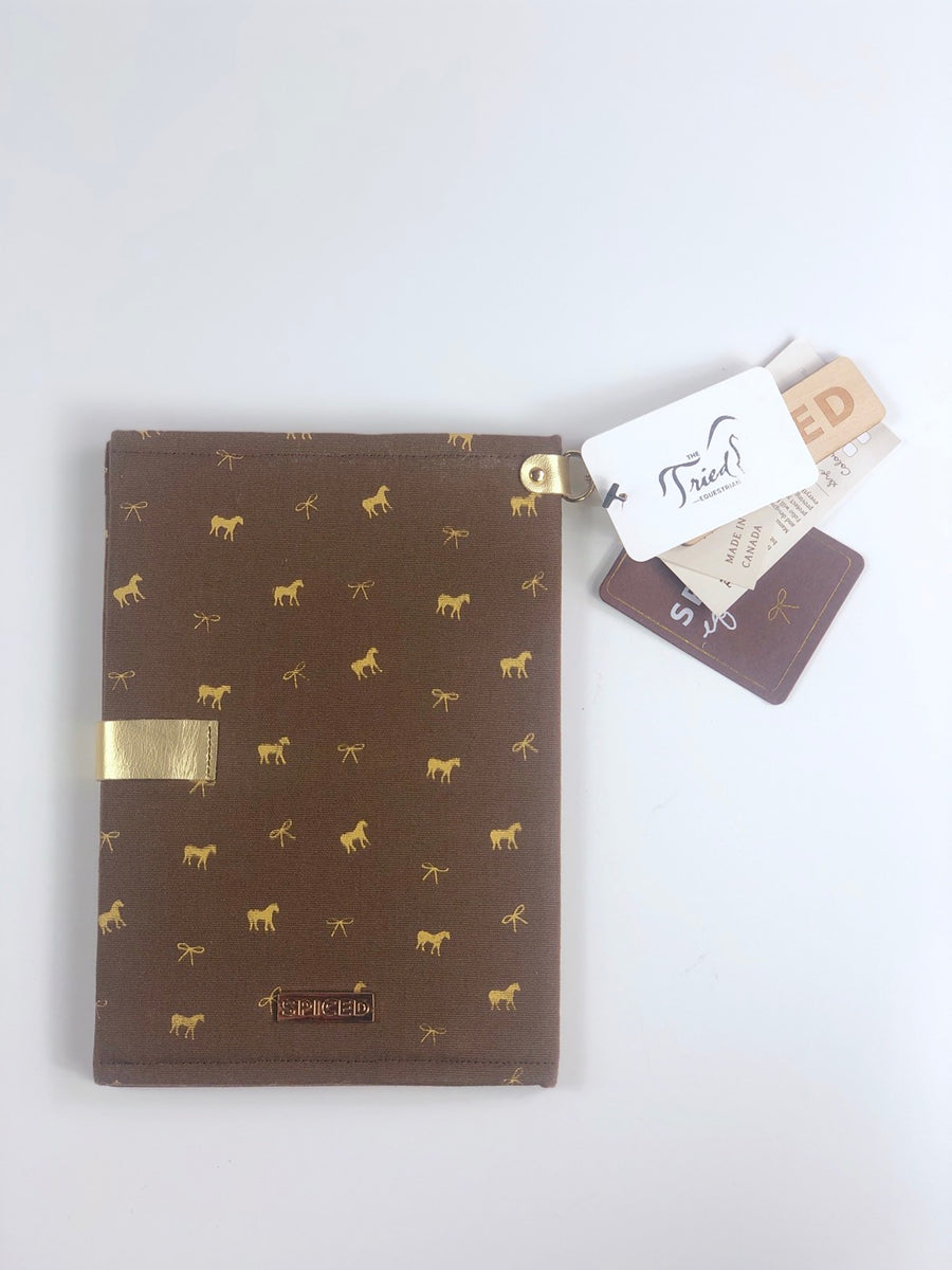Spiced Equestrian Passport Cover in Brown Horse Print - One Size