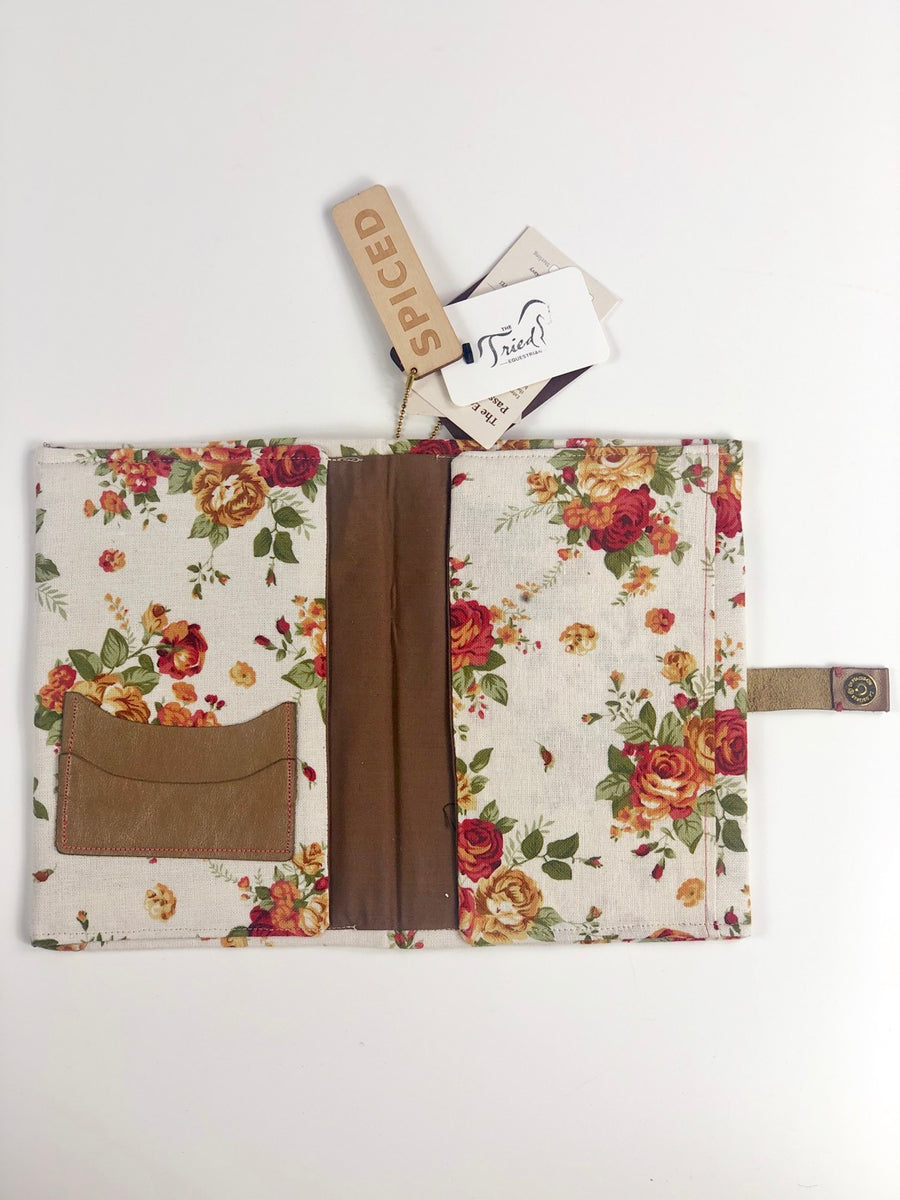 Spiced Equestrian Passport Cover in Vintage Floral - One Size