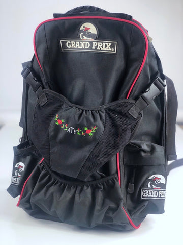 Grand Prix Rider's Backpack in Black/Red - One Size