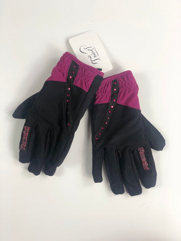 Roeckl Toulouse Winter Teen Gloves in Black/Pink - Teen 7
