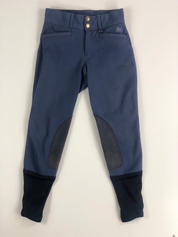 Ovation Celebrity EuroWeave DX Euro Seat Breeches in New Slate -  Front View