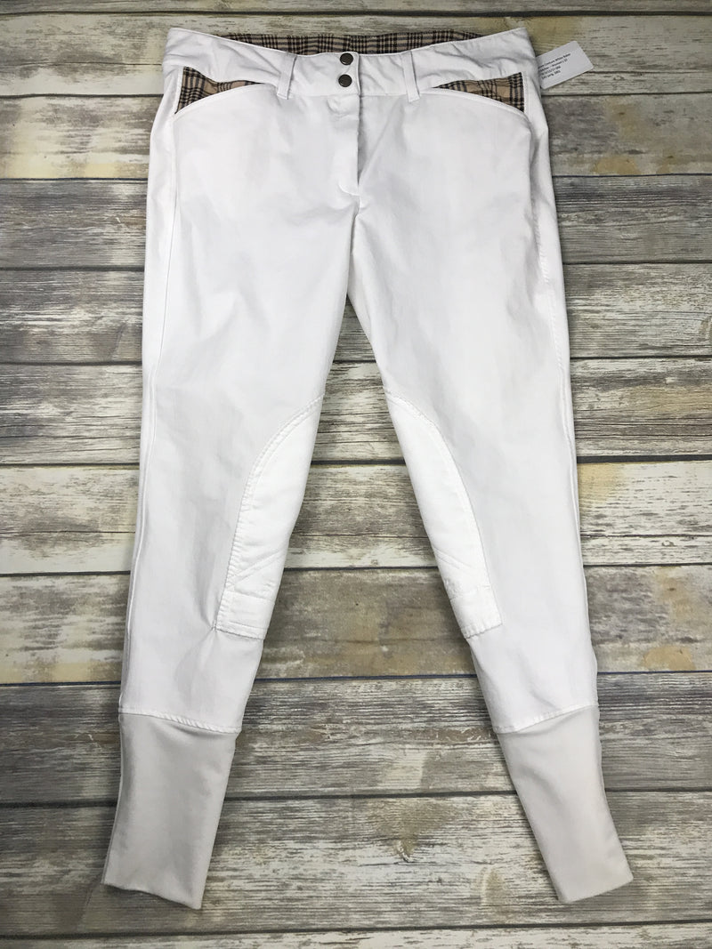 Equine Couture Baker Breeches in White - Women's 32