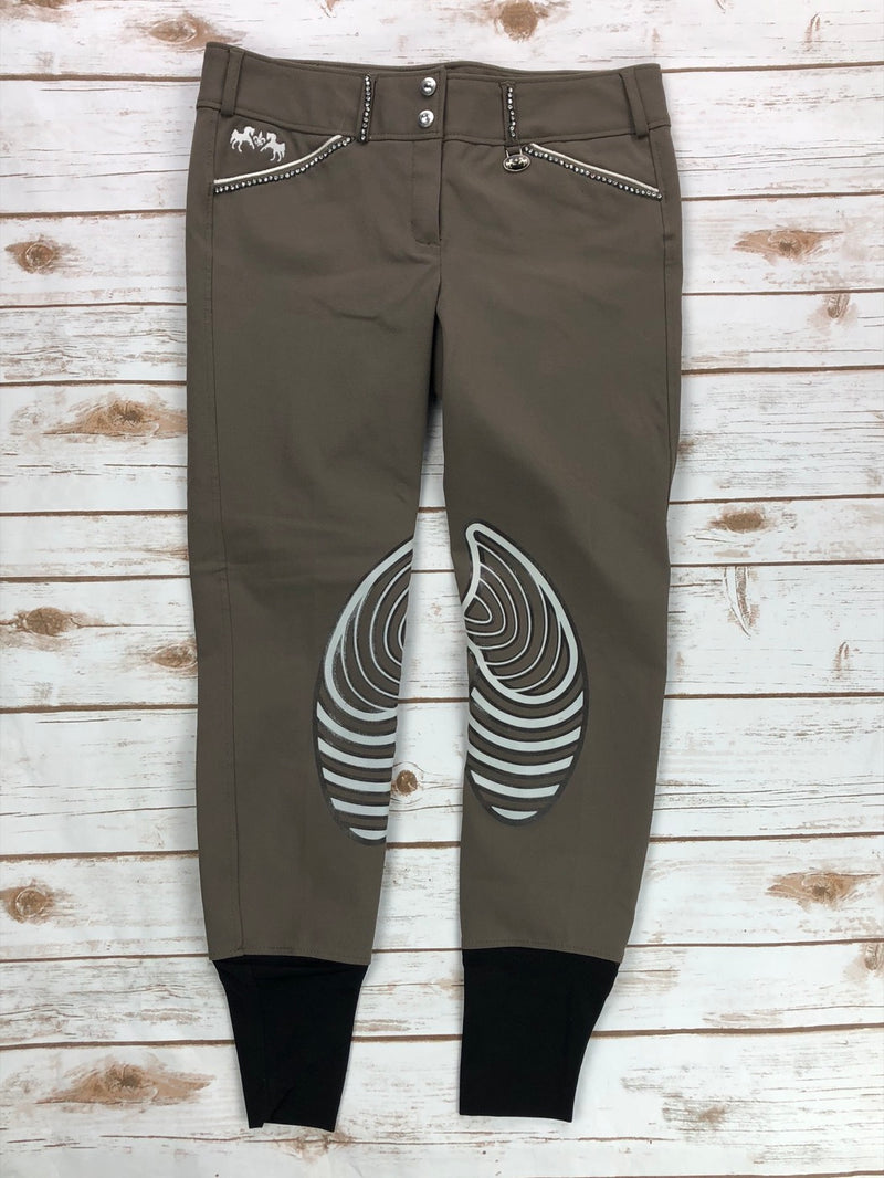 Equine Couture Bling Brittni Breeches in Lava Brown - Women's 28R