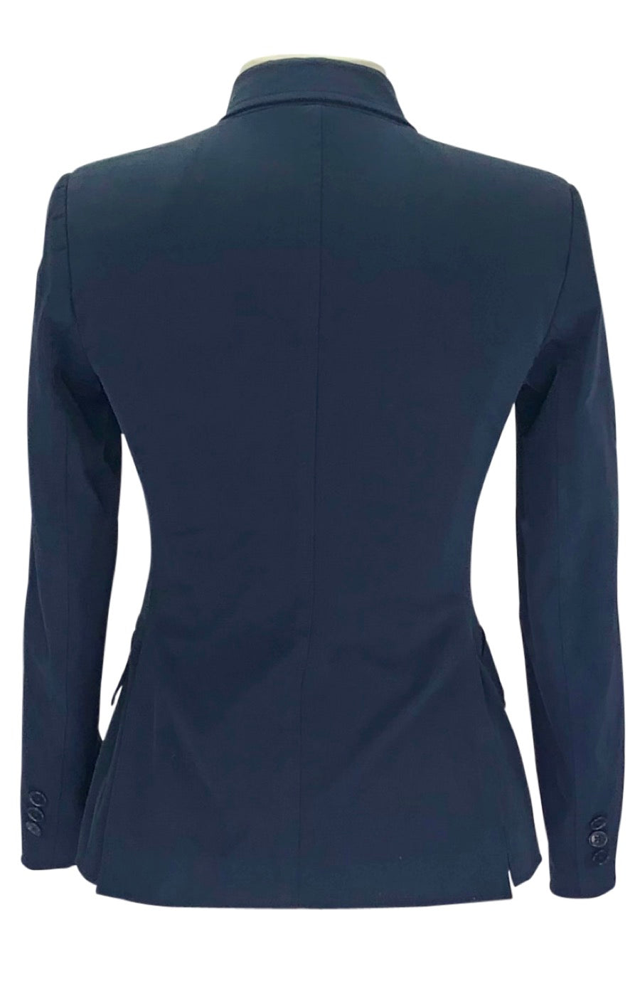 Back of Tailored Sportsman Stretch Hunt Coat in Navy