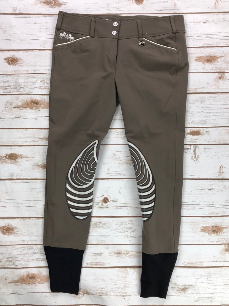 Equine Couture Brittni Breeches in Lava Brown - Women's 30R