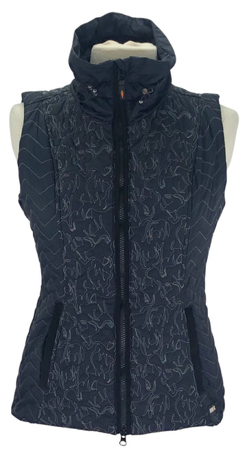 Kerrits Unbridled Horse Quilted Vest in Black