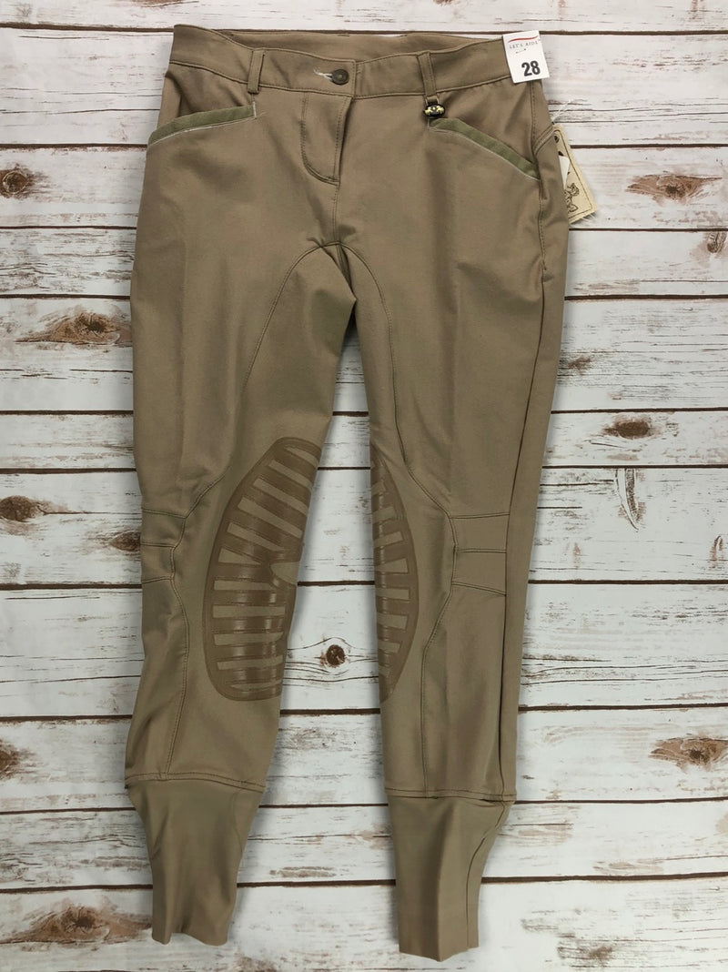 Equine Couture Ingate Knee Patch Breeches in Safari Tan - Women's 28R