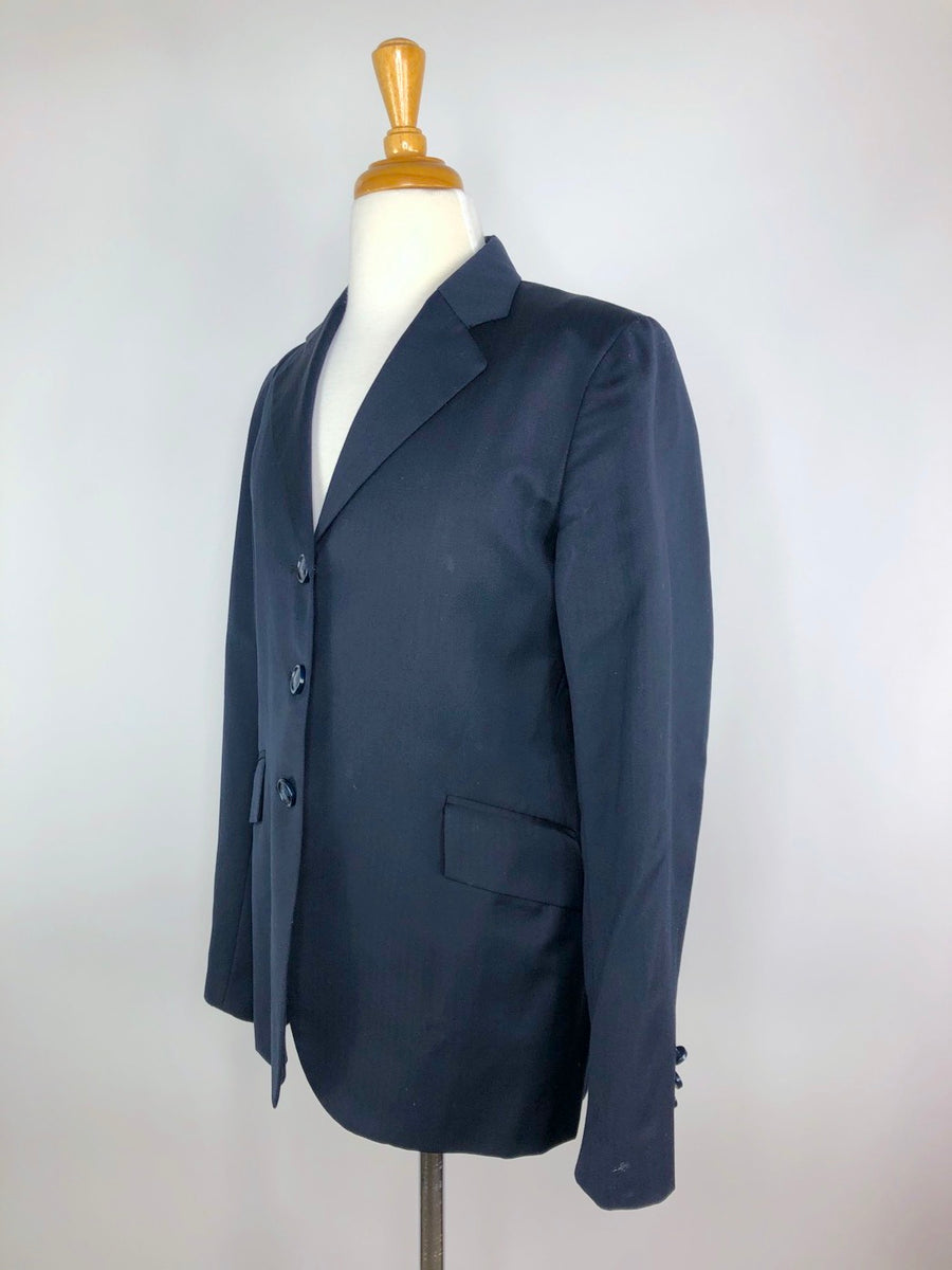 Grand Prix Extreme Stretch Hunt Coat in Navy -Left Side View