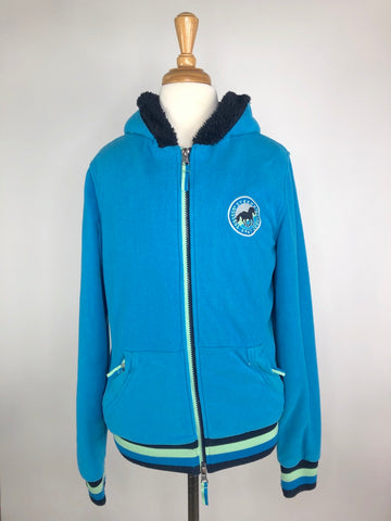 Steeds Fleece Zip Jacket in Blue/Black - Children's EU 164 (14) | L