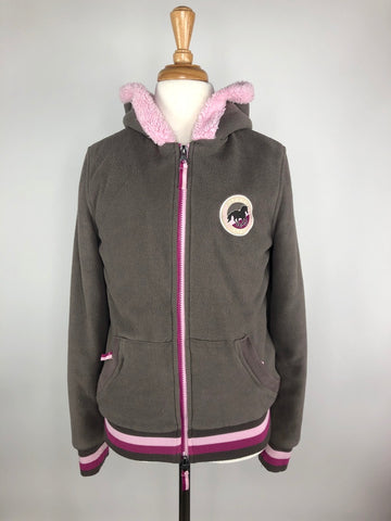 Steeds Fleece Zip Jacket in Taupe/Pink - Children's EU 152 (12) | M