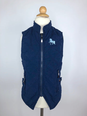 Horze Happy-Go-Lucky Quilted Vest in Navy -Front View