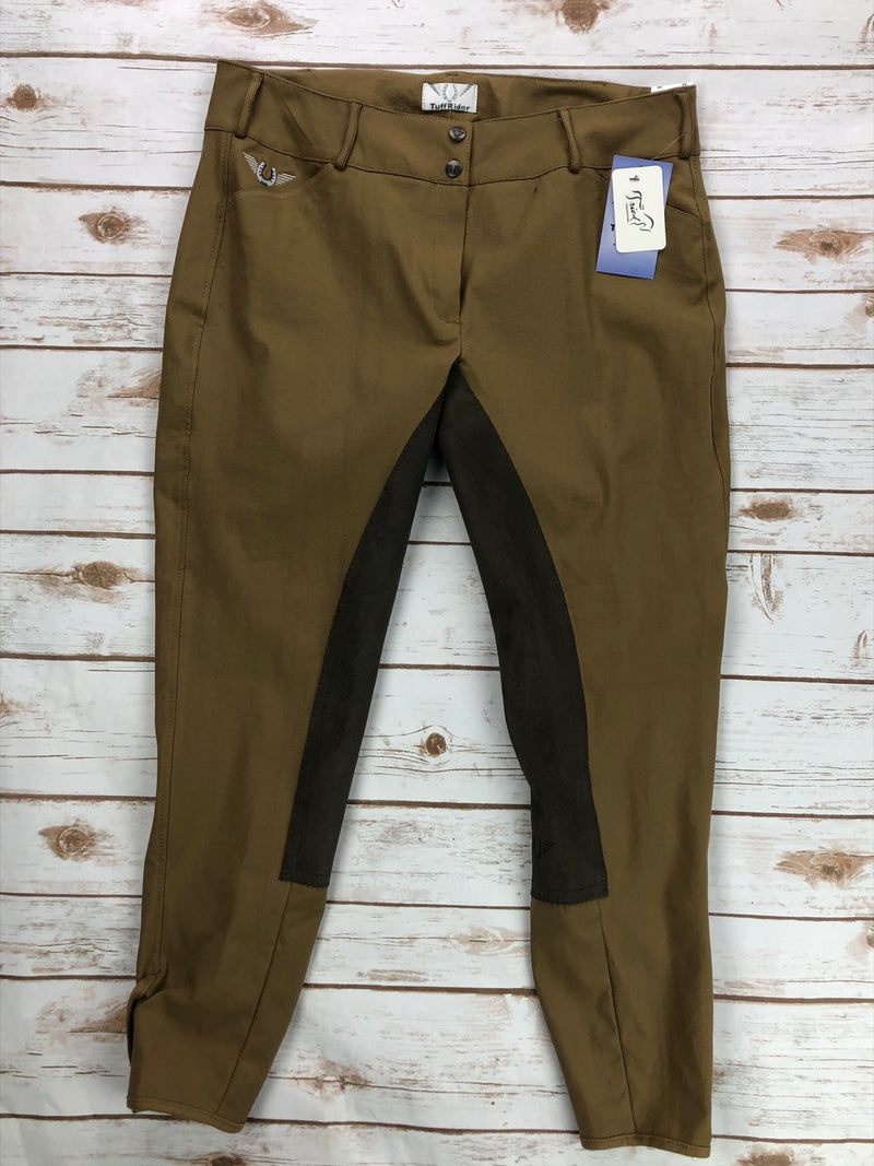 TuffRider Piaffe Full Seat Breeches in Fawn/Coffee - Women's 34