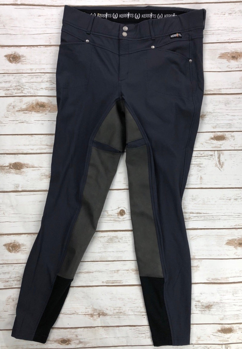 Kerrits Crossover Full Seat Breeches in Storm - Women's XL