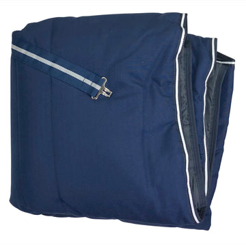 Rambo Stable Blanket in Navy folded
