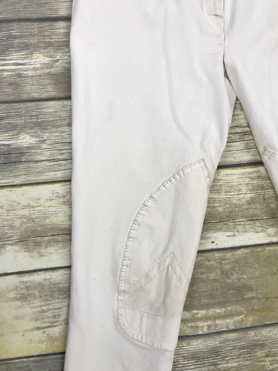 Kingsland Breeches in White -  Leg View
