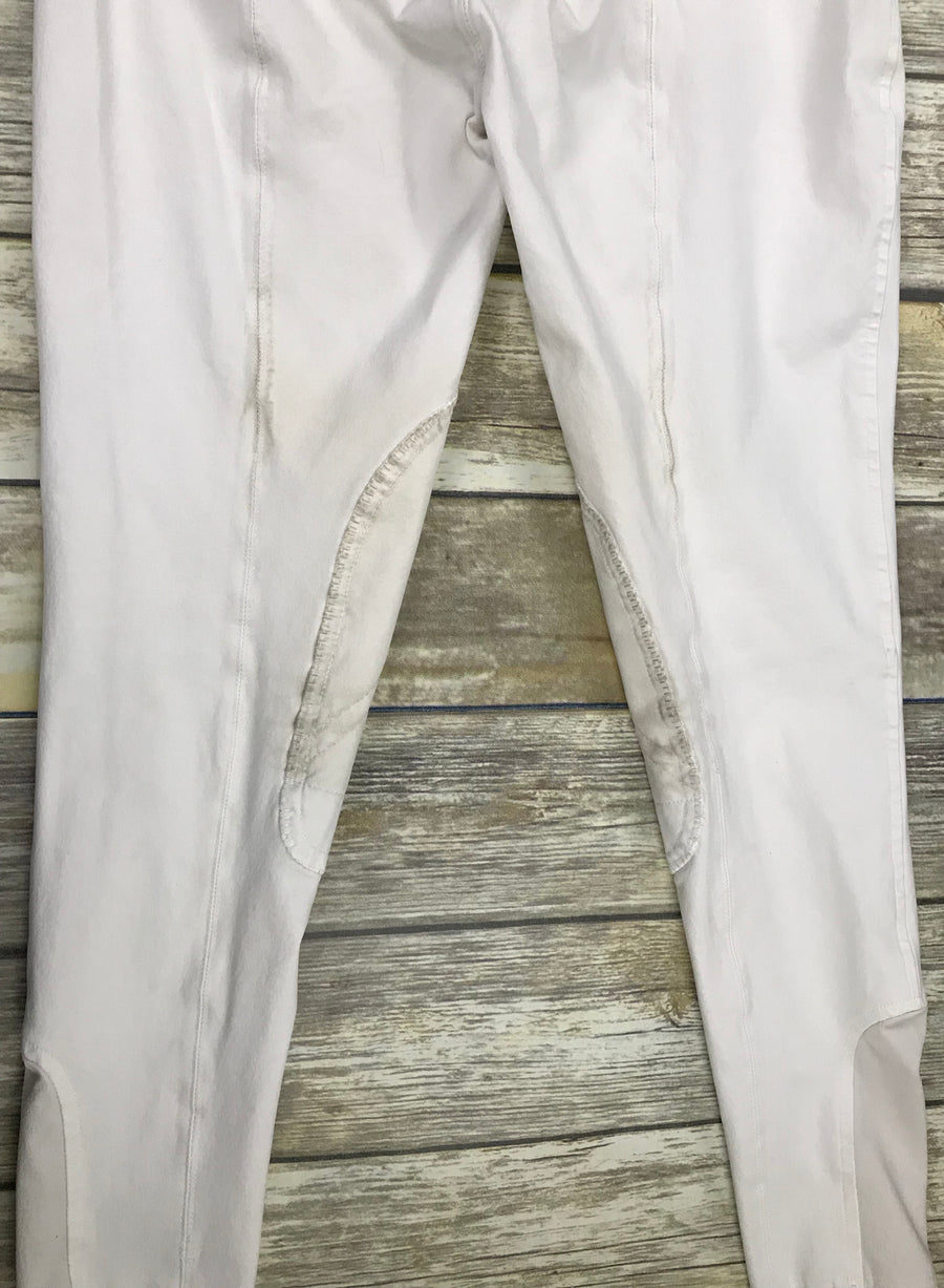 Kingsland Breeches in White -  Leg View 3