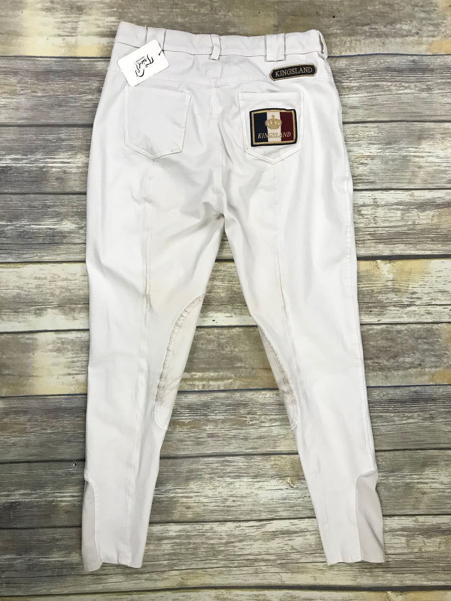 Kingsland Breeches in White -  Back View