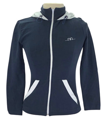Alessandro Albanese Hooded Zip Up in Navy