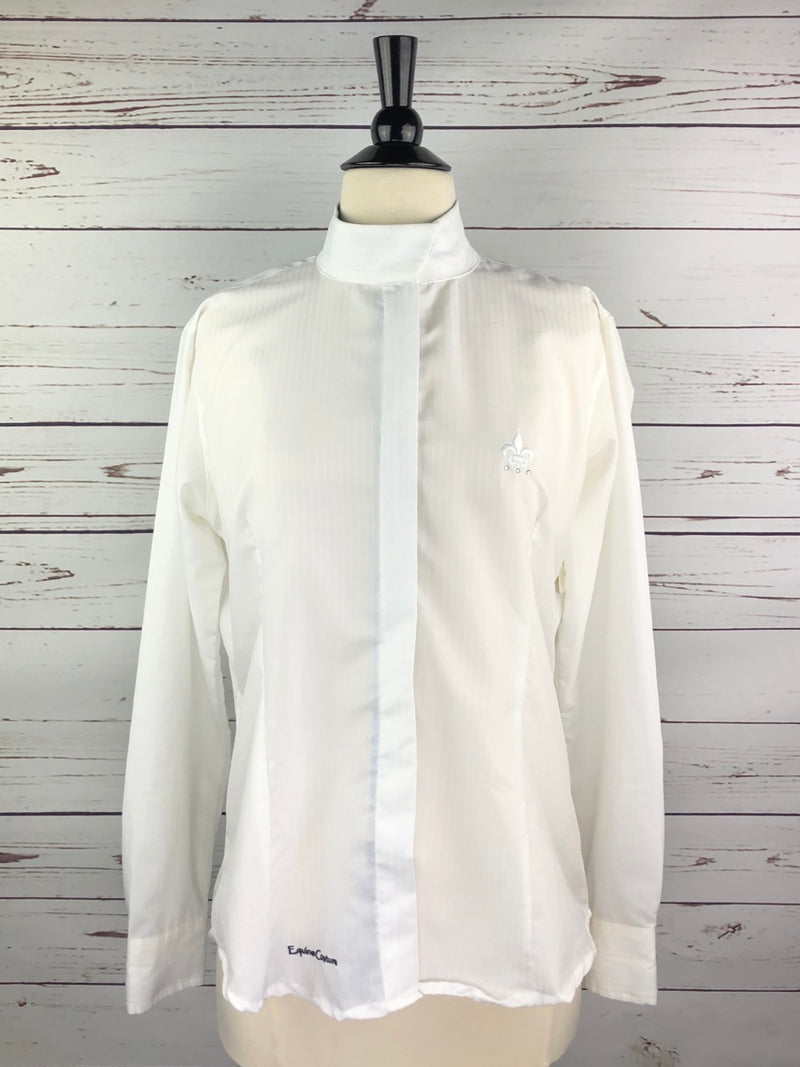 Equine Couture DS Show Shirt in White/Cashmere Blue - Women's Medium
