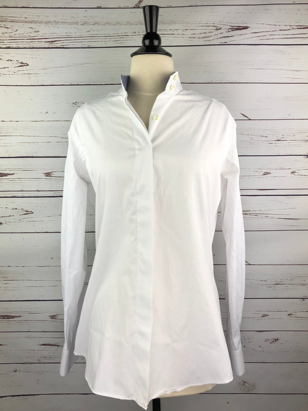 HABiT Play Shirt in White w/Gingham Collar - Women's 10