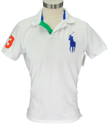 front view of Ralph Lauren Men's Polo Shirt in White