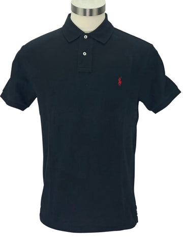 front view of Ralph Lauren Men's Polo Shirt in Black