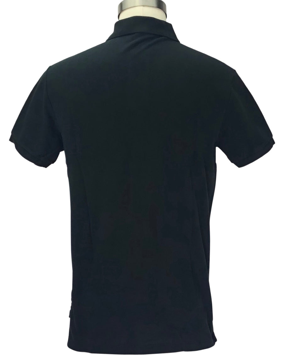 back view of Ralph Lauren Men's Polo Shirt in Black