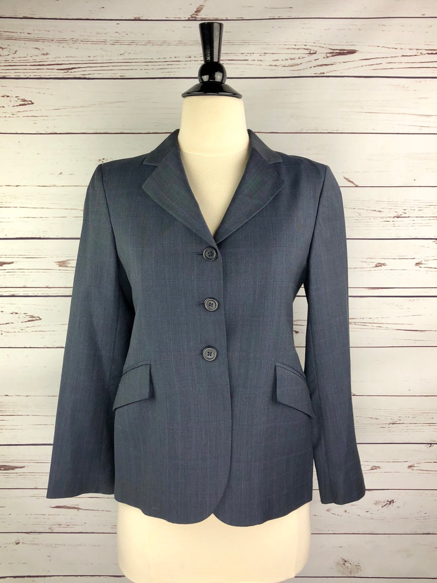 RJ Classics Prestige Collection Hunt Coat in Navy Plaid - Front View