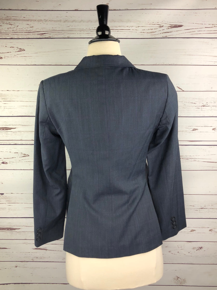 RJ Classics Prestige Collection Hunt Coat in Navy Plaid - Back View