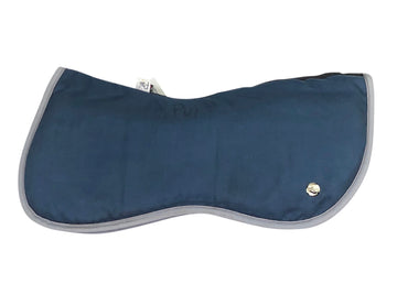 side view of Ogilvy Memory Foam Half Pad in Navy