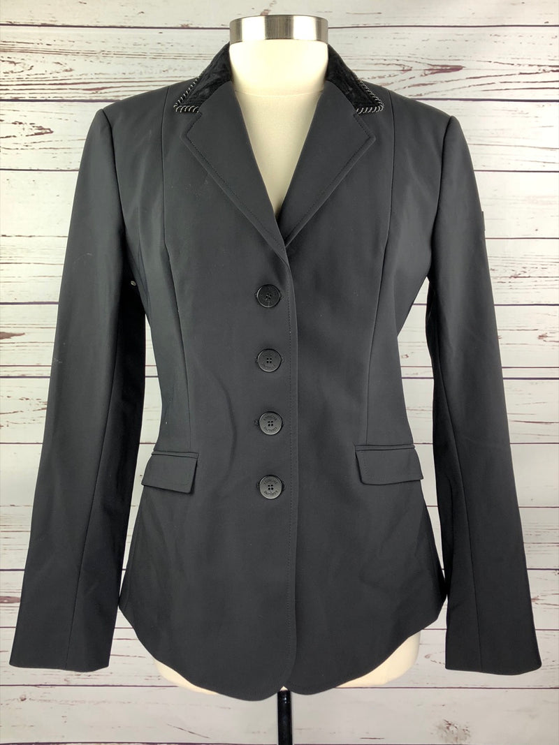 Equiline Gait X-Cool Competition Jacket in Black/Velvet Collar - Women's IT 48