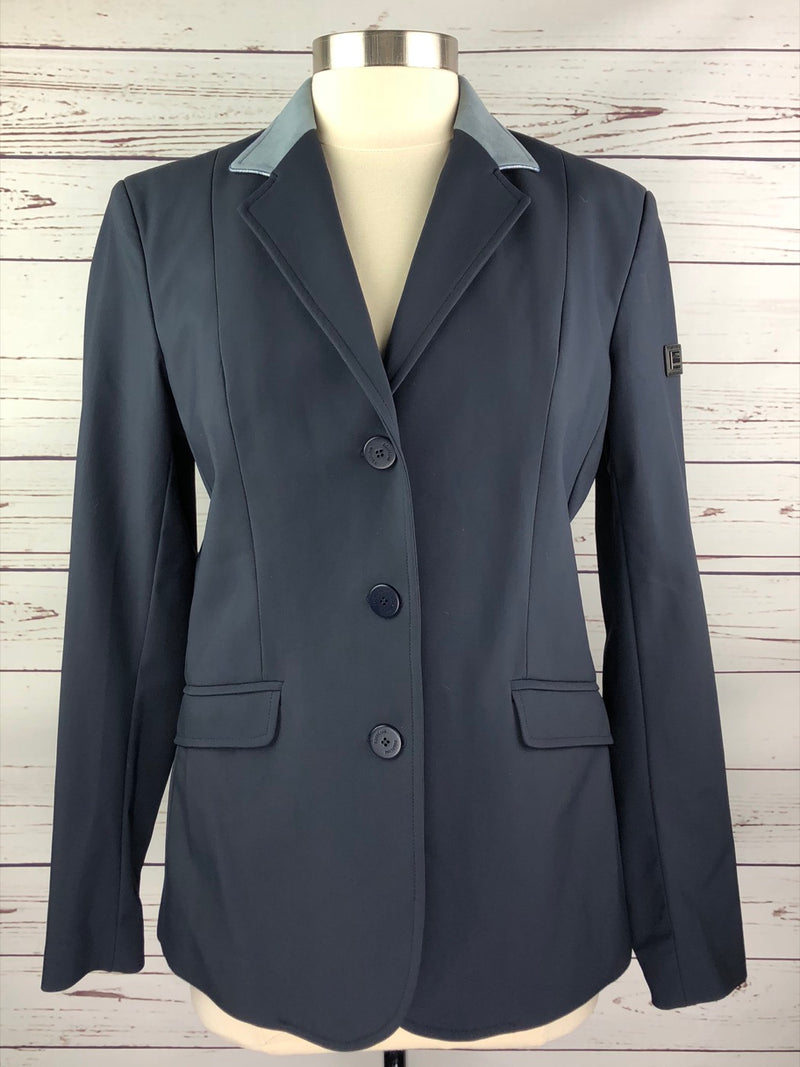Equiline X-Cool Competition Jacket in Navy w/Grey Collar - Women's IT 48