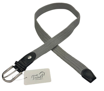 Ovation Braided Stretch Belt in Grey